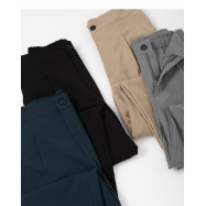image of 百搭素面西裝窄管褲 四色售 Wild Plain Suit Narrow Tube Pants Four Colors