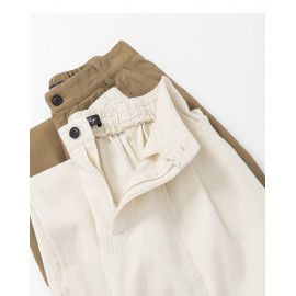 image of 剪接設計落地寬褲 兩色售  Splicing Design Floor Wide Pants Two Colors