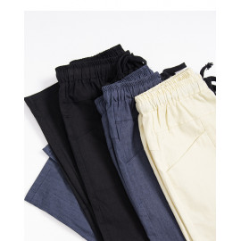 image of 抽繩設計水洗休閒褲 三色售 Drawstring Design Washed Casual Pants Three Colors