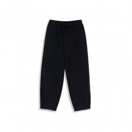 image of 素面鬆緊綁帶打摺長褲 两色售 Plain Elastic Bandage Trousers Two Colors