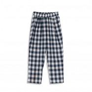 image of 配色格紋打摺老爺褲 Matching Plaid Discount Old Pants