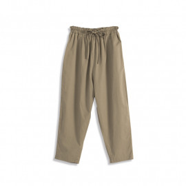 image of 素面鬆緊腰綁帶哈倫褲 兩色售 Plain-Faced Elastic Waist Strap Harem Pants Two Colors