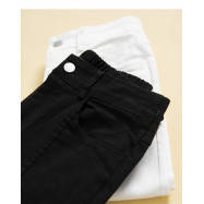 image of 微喇叭設計修身長褲 兩色售 Micro-Speaker Design Slim Trousers Two Colors