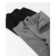 image of 素面雪紡後鬆緊西裝寬褲 兩色售  Plain-Faced Chiffon Elasticated Suit Wide Pants Two Colors