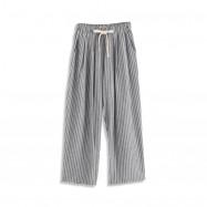 image of 鬆緊綁腰直條紋老爺褲 Elasticated Waistband Straight Striped Classic Pants