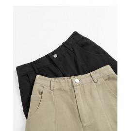 image of 車線直筒素色長褲 兩色售  Car Line Straight Plain Trousers Two Colors
