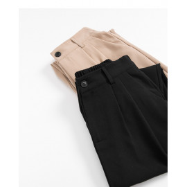 image of 打摺設計西裝長褲 兩色售 Discount Design Suit Trousers Two Colors