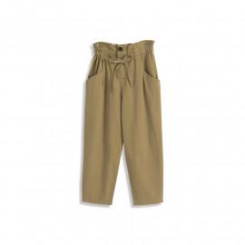 image of 荷葉設計雙口袋長褲 Lotus Leaf Design Double Pocket Trousers