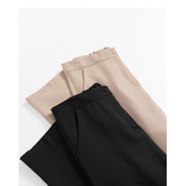 image of 顯瘦長腿小喇叭西裝長褲 兩色售 Thin Long Legs Small Trumpet Suit Trousers Two Colors