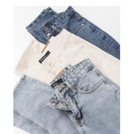 image of 水洗刷色直筒男友牛仔褲 三色售  Washed Brush Straight Boyfriend Jeans Three Colors