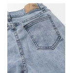 下腳鬚邊刷色窄管牛仔褲 Brushed Narrow Tube Jeans With Lower Feet
