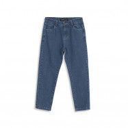 image of 復古刷色深藍AB牛仔長褲 Old School Brushed Dark Blue AB Denim Jeans
