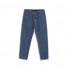 image of 復古刷色深藍AB牛仔長褲 Old School Brushed Dark Blue AB Denim Jeans