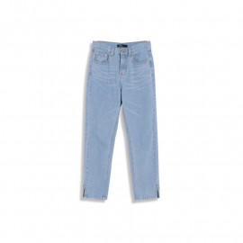 image of 褲腳開衩設計直筒牛仔褲 Pants Open Design Straight Jeans