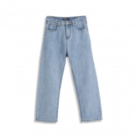 image of 水洗直筒牛仔長褲 Washed Straight Denim Trousers