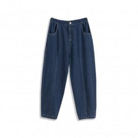 image of 後鬆緊造型打摺牛仔褲 Rear Elastic Shape With Folded Jeans