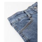 休閒刷色彈力窄管牛仔褲 Casual Brushed Elastic Narrow Tube Jeans