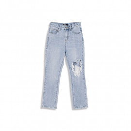 image of 前後刷破造型牛仔褲 Front And Back Brushed Jeans