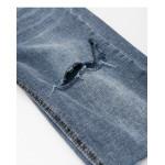 休閒百搭刷色五分牛仔褲 Casual Versatile Brushed Five-Point Jeans