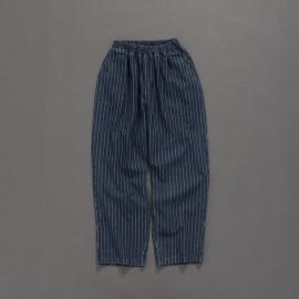 image of 親子系列 直條牛仔寬褲 Parent-Child Series Straight Denim Wide Pants