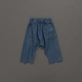 image of 童裝 親子系列造型口袋牛仔哈倫褲 Children's Wear Parent-Child Series Styling Pocket Denim Harem Pants