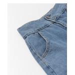 休閒側邊割破造型高腰牛仔褲 Casual Side Cuts High-Rise Jeans
