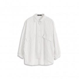 image of 假口袋造型條紋襯衫