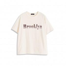 image of BROOKLYN字母圓領短袖上衣