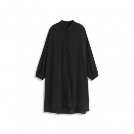 image of 造型袖設計雪紡垂墜襯杉洋裝 兩色售