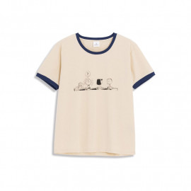 image of 查理‧布朗教室撞色T恤 Charlie Brown Classroom Contrast T-Shirt
