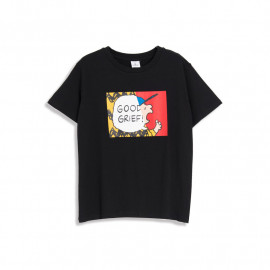 image of 查理‧布朗錯位印圖T恤 兩色售 Charlie Brown's Misplaced Printed T-Shirt Two-Color