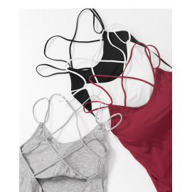 image of 交叉美背背心 四色售 Cross Beauty Back Vest Four Colors