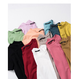 image of 基本款多色圓領素T 十一色售 Basic Multi-Color Round Neck T Eleven Colors