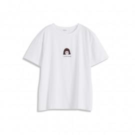 image of 小女孩字母印花短T Little Girl Letter Print Short T-Shirt