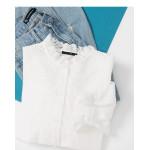 菱形刺繡花邊領襯衫 Diamond Embroidered Lace Collar Shirt