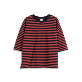 image of 基本百搭配色條紋棉T Basic Hundred Matching Color Striped Cotton T