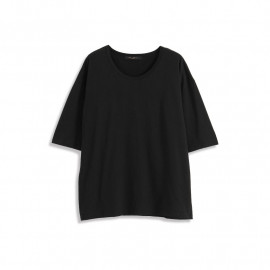 image of 純棉寬版五分袖上衣 三色售 Cotton Wide Version Five-Point Sleeve Top Three Colors