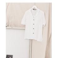 image of 睡衣領泡泡袖襯衫 Pajamas Collar Puff Sleeve Shirt