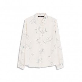 image of 葉子印花雪紡襯衫 Leaf Printed Chiffon Shirt