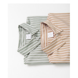 image of 配色條紋長袖襯衫 兩色售 Color Stripe Long-Sleeved Shirt Two-Colors