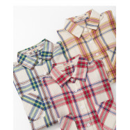 image of 配色格紋雙口袋襯衫 三色售 Color Check Double Pocket Shirt Three Colors