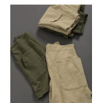 親子系列 口袋棉麻短褲 兩色售 Parent-Child Series Pocket Cotton And Linen Shorts Two Colors