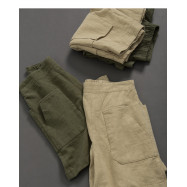 image of 親子系列 口袋棉麻短褲 兩色售 Parent-Child Series Pocket Cotton And Linen Shorts Two Colors