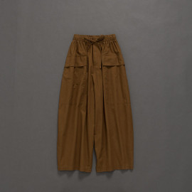 image of 基本百搭素色抽繩腰帶寬褲 Basic Wild Plain Drawstring Waistband Pants