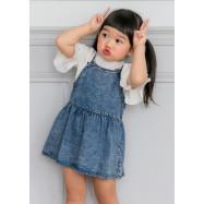 image of 小童裝。雪花牛仔吊帶娃娃裙-小童款