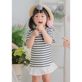 image of 小童裝。條紋雙結哺乳洋-小童款