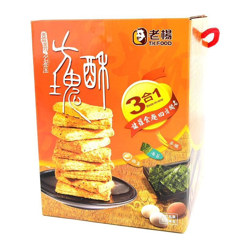 image of 老楊3合1方塊酥-麥纖海苔雞蛋