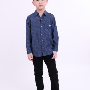 image of Diesel Kids Full Printed Woven Shirt Long Sleeve - Navy