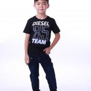 image of Diesel Kids Graphic Round Neck Tee - Black