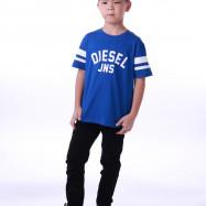 image of Diesel Kids Graphic Round Neck Tee - Blue